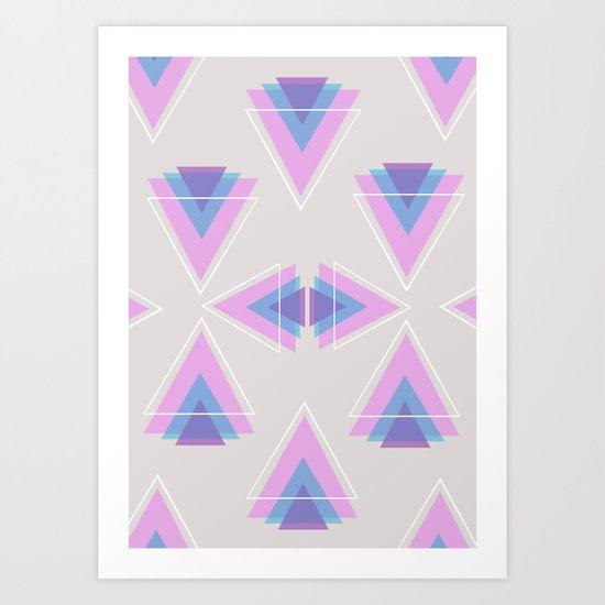 TRIANGLES IN COLOUR Art Print