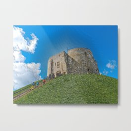 York, Cliffords tower in plastic Metal Print