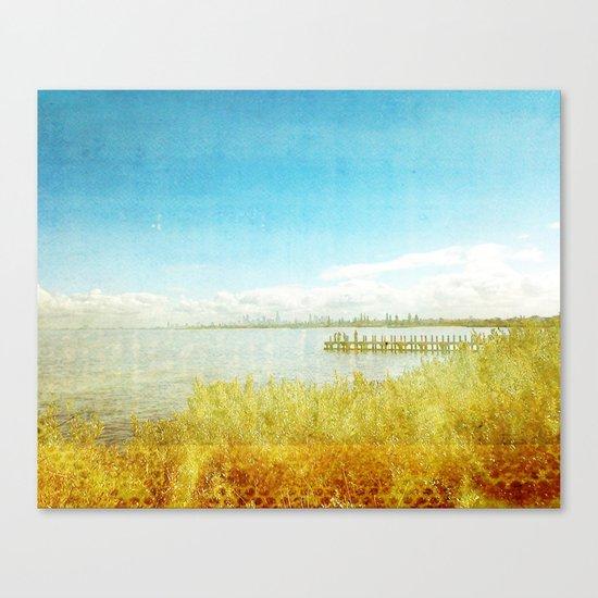 the bay _ elwood beach Canvas Print