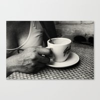 coffe Canvas Prints featuring Coffe Time by unaciertamirada
