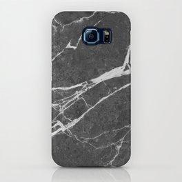 Matte Black Marble iPhone Case