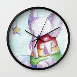 Sweet elephant Wall Clock