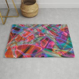 Colorful Abstract Stained Glass G297 Rug