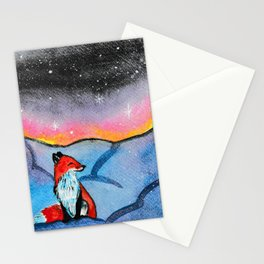 Fox of Winter  Stationery Cards