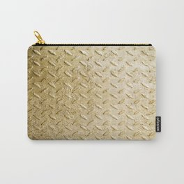 Gold Painted Metal Stylish Design Carry-All Pouch