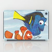 nemo iPad Cases featuring Finding Nemo by Larissa