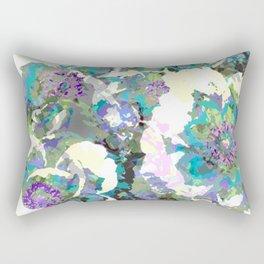 Bright Peony Garden Rectangular Pillow