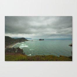 Storm at sea Canvas Print