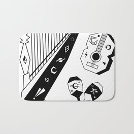 Venezuelan Tipical Music Instruments Bath Mat