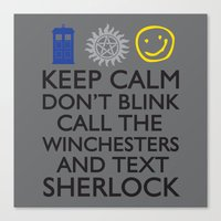 superwholock Canvas Prints featuring superwholock by thischarmingfan