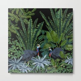 Cassowary in the jungle Metal Print