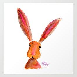 Happy Hare ' LoLLiPoP ' by Shirley MacArthur Art Print