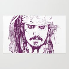 Captain Jack - Pirates of the Caribbean Rug