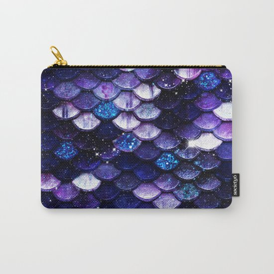 Mermaid Glitter Scales Carry-All Pouch