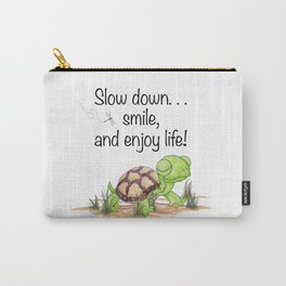 Smiling Turtle Carry-All Pouch