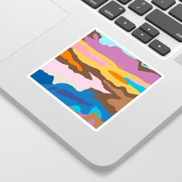 Shape and Layers no.19 - Abstract Modern Landscape Sticker