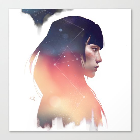 the lost constellation Canvas Print