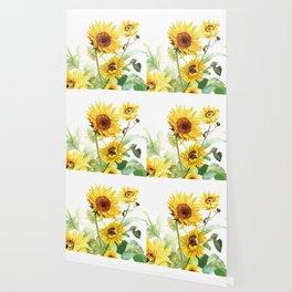 Watercolor Sunflower Wallpaper