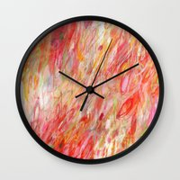 rush Wall Clocks featuring Rush by Jessica Torrant