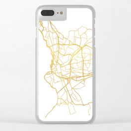 MARSEILLE FRANCE CITY STREET MAP ART Clear iPhone Case