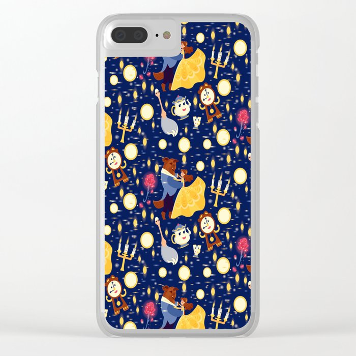 Be Our Guest Pattern Clear iPhone Case