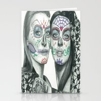 lindsay lohan Stationery Cards featuring Meryl Streep and Lindsay Lohan  by Jimmy Lee