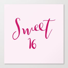 Sweet 16 Canvas Print