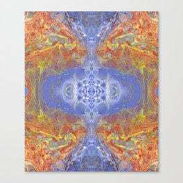 Psycho - Fire surrounding Ice with great depth by annmariescreations Canvas Print