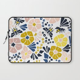 Flower meadow with bees Laptop Sleeve