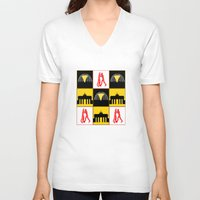 berlin V-neck T-shirts featuring Berlin by Arts and Herbs