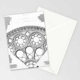 Notre Dame Rose Window Facade Architecture Stationery Cards