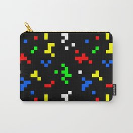 Retro 8 Bit Video Game Graphics Pattern Carry-All Pouch