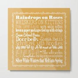 My Favorite Things - Gold Metal Print