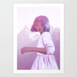 on the edge of forever Art Print