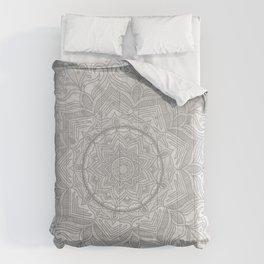gray splash mandala swirl boho Comforters