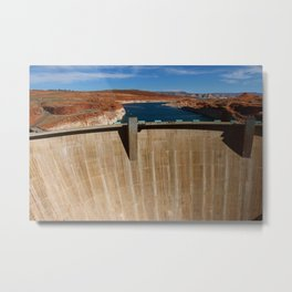Glen Canyon Dam and Lake Powell Metal Print