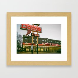 Liquor Store Min. Framed Art Print