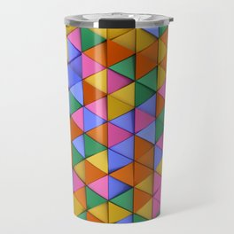Pattern of colorful triangle prisms Travel Mug