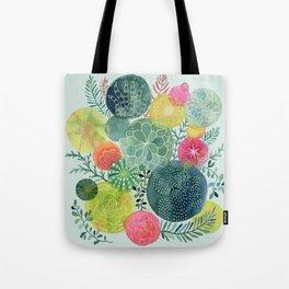 Succulent Circles Tote Bag