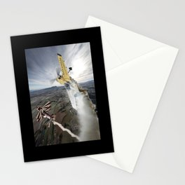 Aerobatic duel Stationery Cards