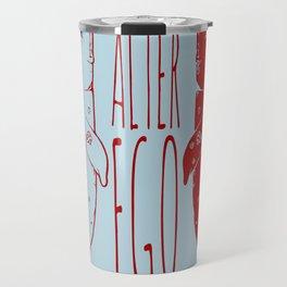 """Sad"" la ballena tristona y su alter ego Travel Mug"