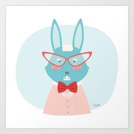 Fancy Rabbit Art Print