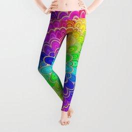 Colorful Mandala Flower Leggings