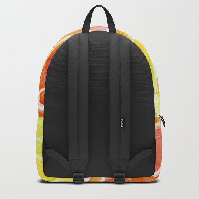 Fruit Watercolor Citrus Backpack