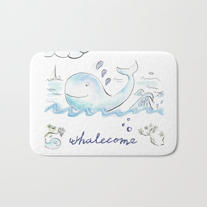 You're whalecome Bath Mat