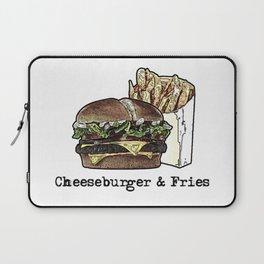 Cheeseburger & Fries Laptop Sleeve