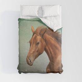 Drawing portrait  horse Comforters
