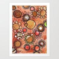 brown Art Prints featuring brown by Mojca G. Vesel