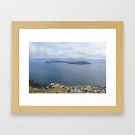 Isle of Eigg viewed from the Isle of Rum Framed Art Print