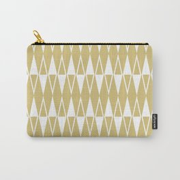 Mid Century Modern Diamond Pattern Gold 234 Carry-All Pouch
